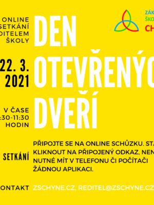 Den otevřených dveří 22. března ONLINE