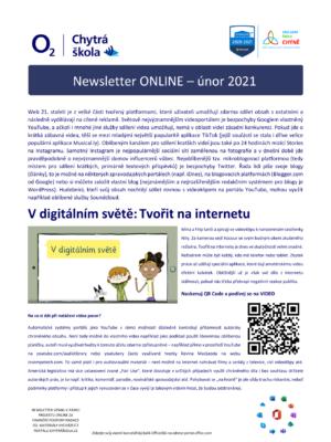 Newsletter O2 Chytrá škola
